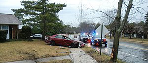 Single-car crash, Manchester Township, 1-26-17 (Manchester PD)